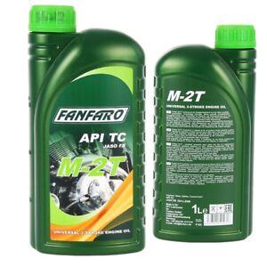 1-Liter-FANFARO-M-2T-2-TAKT-UNIVERSAL-Motoroel-API-TC-JASO-FB-ISO-Motorrad-Ol
