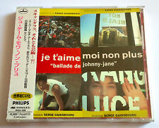 Je T'aime Moi Non Plus MOVIE SOUNDTRACK JAPAN CD w/OBI Serge Gainsbourg Birkin