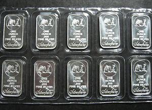 20 X 1oz Silver Bars Prospector Silvertowne 999 New