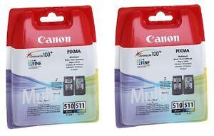 2-X-BLACK-2-X-COLOUR-PG-510-CL-511-PIXMA-MP480-IP2702-Original-Ink-Cartridges