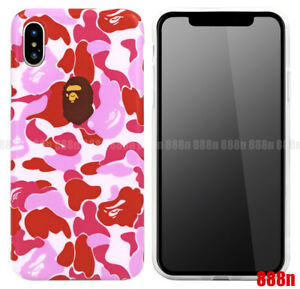 official photos 7c861 b2636 Details about BAPE A Bathing Ape PINK CAMO Phone Case For Apple iPhone XS  Max XR XS X 7 Plus 8