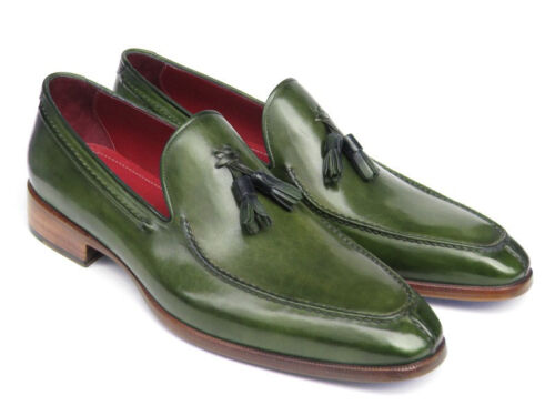 Parkman Men's 083 green Paul Loafer Leather id Painted Hand Green Tassel Hd5wqU