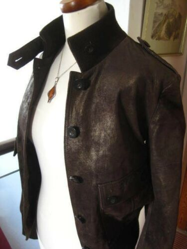 Uk Bomber 12 Leather 14 amp;s Coat Jacket Copper Suede Autograph Biker M Real Ladies OqwSz1W