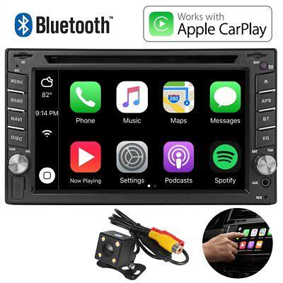 "6.2""Car Stereo CarPlay Autoradio DVD Player Radio Touch Screen For iPhone Apple"