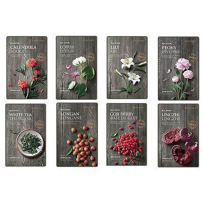 The Face Shop, New Real Nature Mask Sheet 8pcs, Lingzhi,White Tea,Lotis ets.