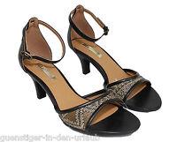 Esprit Sandalen schwarz - braun Damenschuhe Schuhe Sandaletten 37 NEU