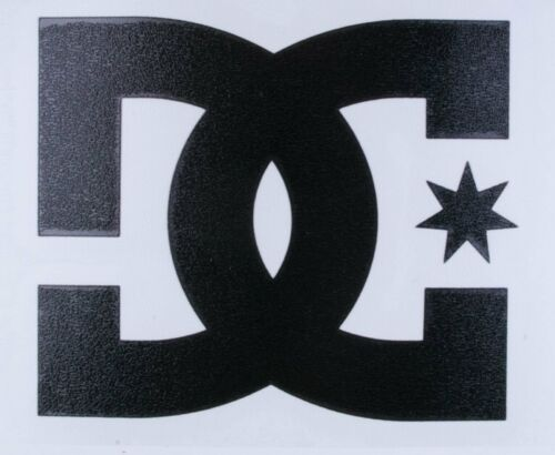 """One Authentic DC Shoes Black Logo Decal 4/"""" Snowboard Skateboard TRANSFER STICKER"""