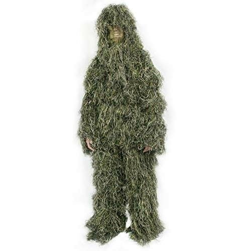 Deer Hunting Ghillie Suit Camo Concealment Big Game 4-Piece Paintball Military