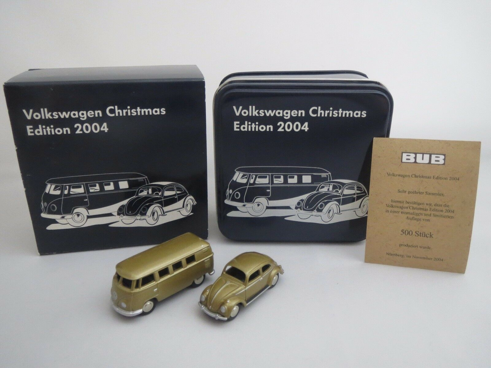 Bub VW Bus & VW Escarabajo  volkswagen Christmas Edition 2004  1 87 OVP