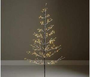 detailed look 50239 5b1d8 Details about 5ft Snowy Effect Warm White Twig Tree Pre-lit 200 LED XMAS  Lights Indoor/Outdoor