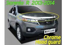 Chrome Bonnet Hood Guard Protector Deflector Shield for KIA Sorento 2013 ~ 2015
