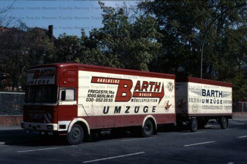 Berlin 10x15cm//LF91 LKW Foto MAN Büssing Kofferhängerzug Möbelspedition Umzüge