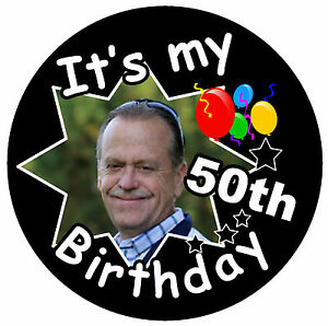 Image Is Loading IT 039 S MY 50th BIRTHDAY BADGE MALE