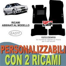PER MERCEDES CLASSE C W203 TAPPETI AUTO MOQUETTE E FONDO GOMMA + 2 RICAMI EASY