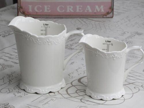 Chic Antique Provence crema Shabby tetera con grado 1 litros de porcelana landhaus