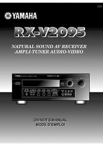 yamaha rx v2095 receiver owners manual ebay rh ebay com yamaha receiver rx-v661 owner's manual yamaha stereo receiver owner's manual