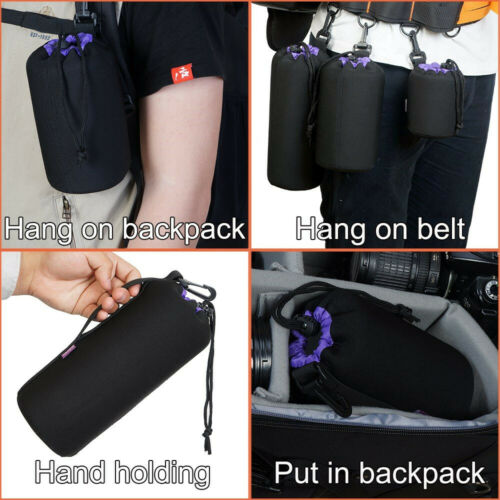 CADeN Soft Camera Lens Pouch Bag Waterproof Protective Case Neoprene Lens Pouch