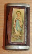 ancienne boite a priser tabatière notre dame de lourde ( objet religieux )