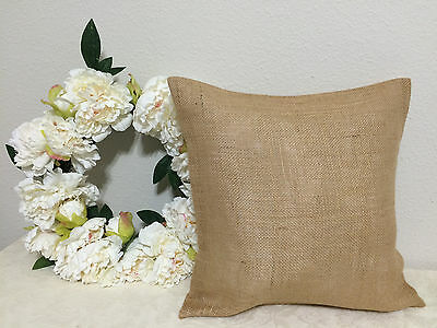 18x18 Burlap Throw Pillow Cushion Cover Country Rustic Decor Gift