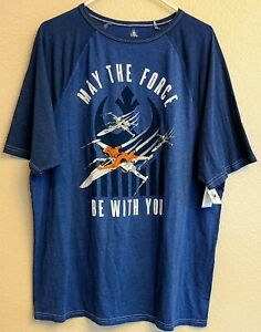 Disney-Parks-Galaxys-Edge-Star-Wars-MAY-THE-FORCE-BE-WITH-YOU-Mens-T-Shirt-XL
