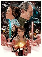 Star Wars We're Doomed Screen Print Poster Joshua Budich Mondo
