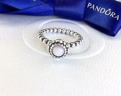 Authentic Pandora October Pink Opal