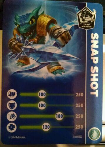 Snap Shot Trap Master Stat Card Skylanders Trap Team