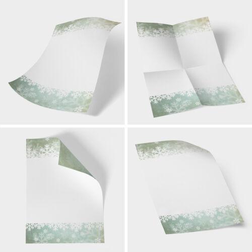 50 Blatt Weihnachtsbriefpapier A4 Briefbögen Motiv Bastelpapier Winter vintage