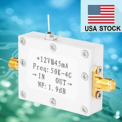 LNA Low Noise 50K-4G High Gain 25DB @ 0.8G High Gain Flatness RF Amplifier US