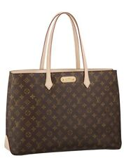 New Authentic Louis Vuitton Monogram Wilshire Gm Bag LV Purse Summer Tote ! N6