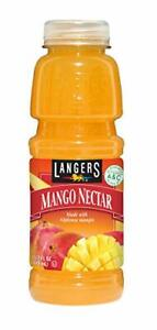 Langers Juice, Mango Nectar, 15.2 Ounce (Pack of 12) Fl Oz