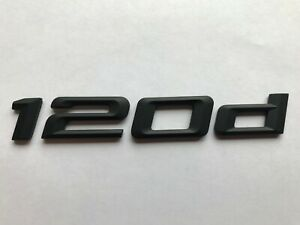 BMW 1 Series 120d Rear Boot Trunk Badge Emblem Logo Matt Black