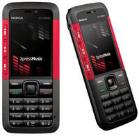 Music 5310 Black Red (Unlocked) with Camera Cheap Mobile Bar Phone Nokia Xpress