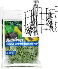 5x10/' Luster Leaf 864 Rapiclip Vine /& Veggie Green Heavy Duty Nylon Trellis Net