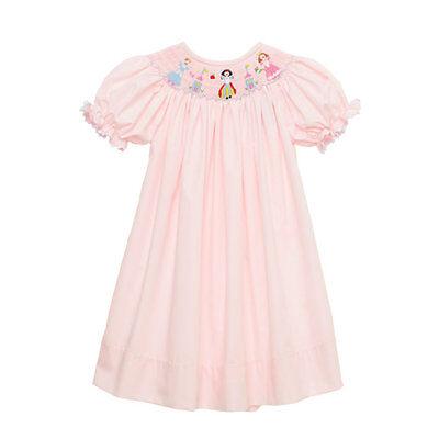 Cinderella inspired  birthday Halloween Smocked Princess dress 6m 6