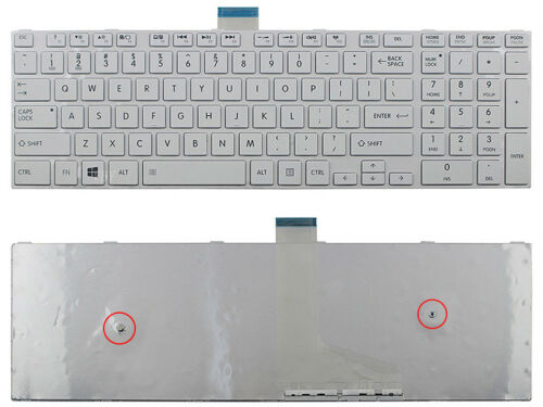 New Toshiba Satellite C55-A5204 C55-A5220 C55-A5242 C55-A5249 US Keyboard White