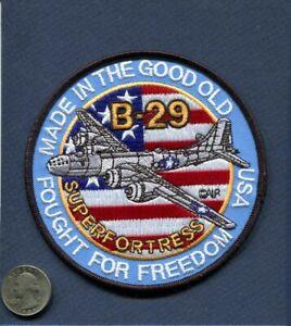 B-29-Super-Fuerte-Ejercito-Aire-Corps-USAF-WW2-Boeing-Tibbits-Escuadron-Parche