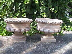 ANFORA vaso VASO su piedistallo pietra, porta vaso VASO