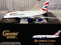 Gemini Jets 200 British Airways G-xlea Airbus A380-800 1:200