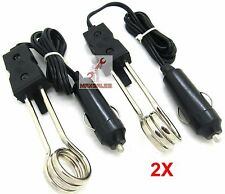 """(2) 5"""" Water Heater 12V Portable Electric Immersion Element Boiler Coffee Water"""