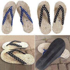 dbb39feb7e2b0b La imagen se está cargando Man-New-Handmade-Thong-Slippers-New-Straw-Sandals -
