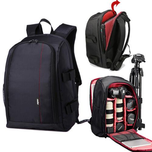 fit Most Digital DSLR Camera Laptop Backpack Bag Case+Rain Cover For Canon Nikon