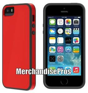 Image Is Loading SKECH IPHONE 5 5S RED BLACK GLOW SHOCK