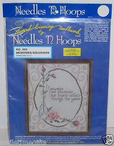Vtg Needles'n Hoops cross stitch Kit 365 Memories are Souvenirs 10*12 Sealed NEW
