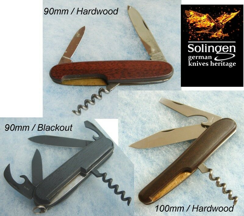 Inox Solingen Germany ― hardwood or interrupción Pocket Knife ― nos New Old Stock