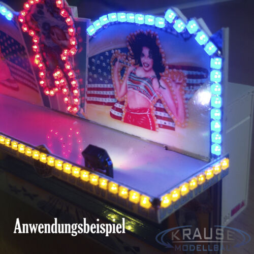 5 Miniatur LED Strahler hellweiss 5 x 4 mm für Faller Kirmes Gebäude Modellbahn
