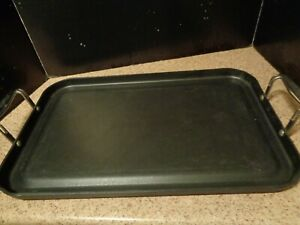 Image Is Loading Calphalon Large Hard Anodized Nonstick Double Griddle Grill
