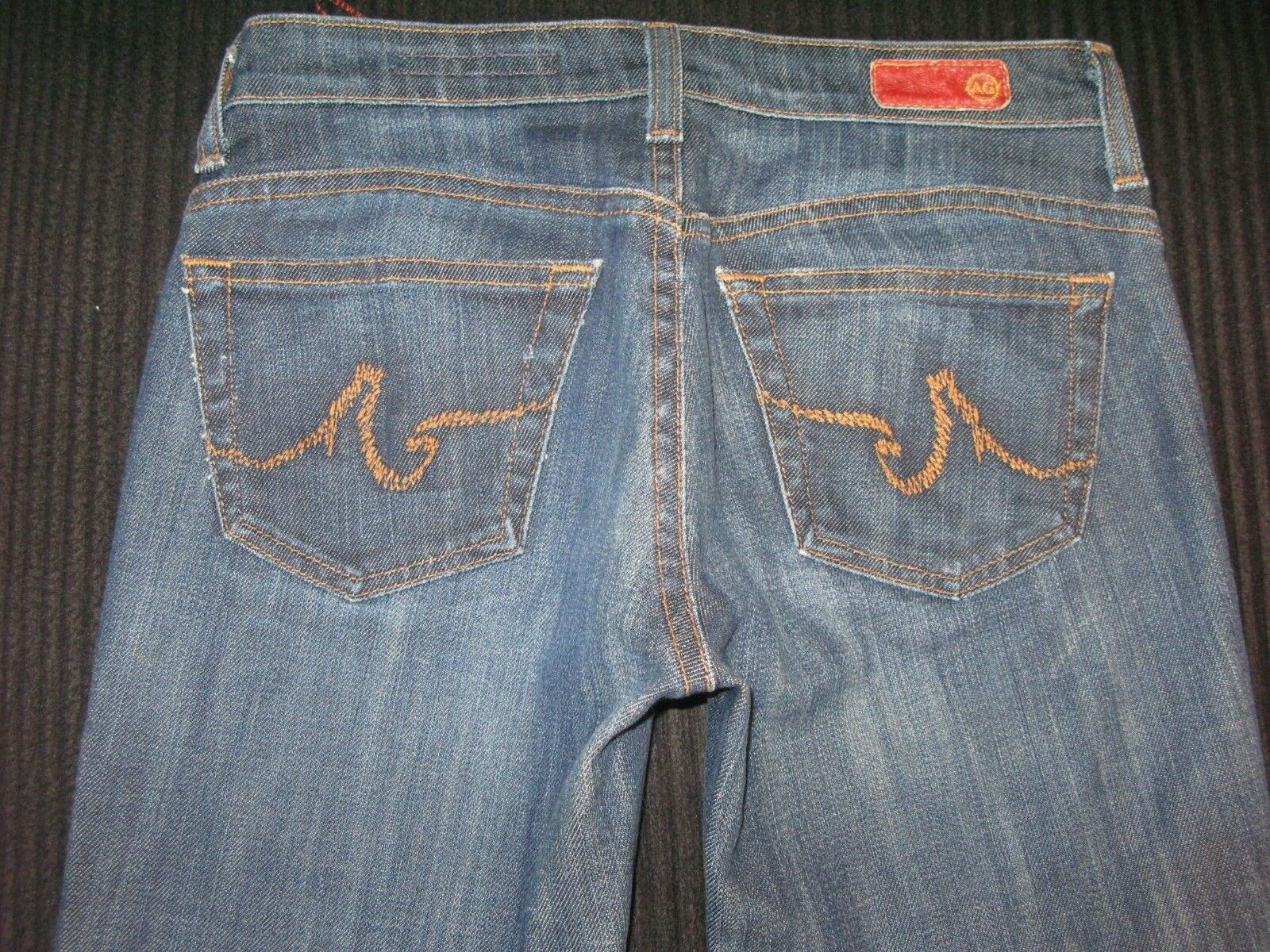 AG ADRIANO goldSCHMIED The New Legend Jeans Sz 25 Low Flare Dark Distressed