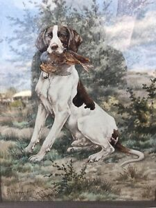 Masson Frederic Aquarelle Peintre Animalier Du Xixe Siecle Ebay
