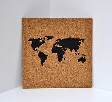 Push Pin Cork Map of the World / Travel Map / Places I've Been Corkboard